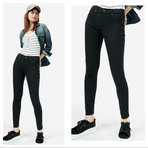 Express Mid Rise Leggings Jean Black